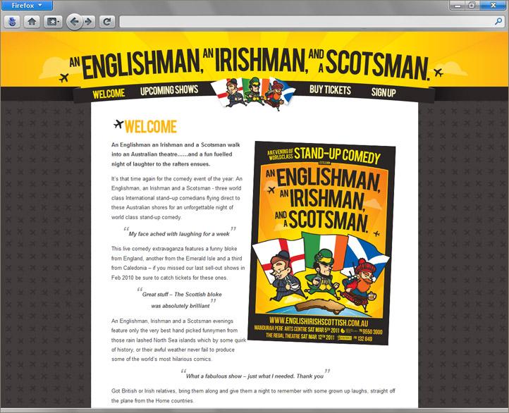 An Englishman an Irishman & Scotsman